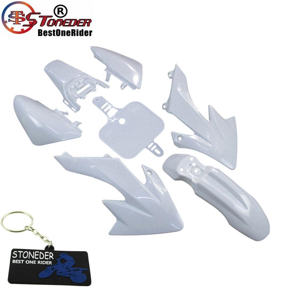 Комплект пластиковых крыльев STONEDER, белый обтекатель для 50-110 куб. См, 125 куб. См, 140 куб. См, 150 куб. См, 160 куб. См, CRF50, XR50, Pitsterpro, Braaap, SDG, GPX, DHZ