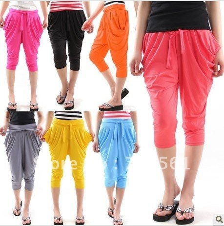 Harem pants shank length trousers female summer 2012 knee length trousers 2011 casual big