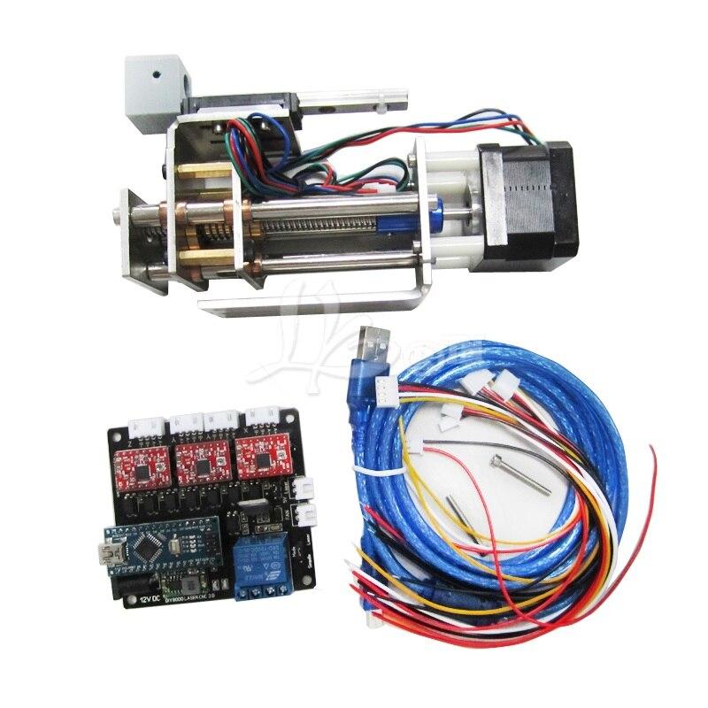 DIY плоттер DPS 01 устройство для лазерной резки преобразовать в 3 оси ЧПУ Z оси слайд платформы с ручкой зажим, нет Налоговый для России