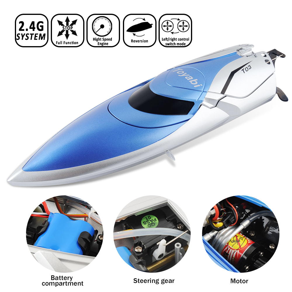 Image 3 - RC Boat 30km/h High Speed 2.4GHz 4 Channel Racing Remote Control Boat with LCD Screen as gift For children Toys Kids Xmas Gifts-in RC Boats from Toys & Hobbies