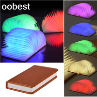 Oobest 3W Desk Lamp Innovative LED Foldable Book Shape USB Rechargeable Folding Book Reading Desk Lamp