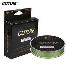 Goture 114M/125yds PE Braided Fishing Line Cord Multifilament Lines Saltwater Freshwater Fishing 8LB-80LB 4Strands
