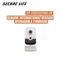Hikvision DS 2CD2455FWD IW международная версия 5MP EXIR фиксированной Cube Network POE камеры видеонаблюдения wifi, до 10 м ИК