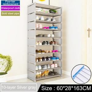 Image 5 - Many Layers Shoe Rack Non woven fabric Easy Assemble organize Storage Shelf Shoe cabinet fashion bookshelf Living Room Furniture