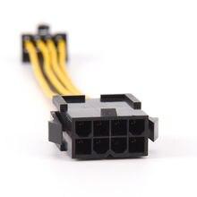 Cable adaptador de extensión de fuente de alimentación, de 19cm, 8 pines a 8 pines ATX EPS, macho a hembra, placa base PSU