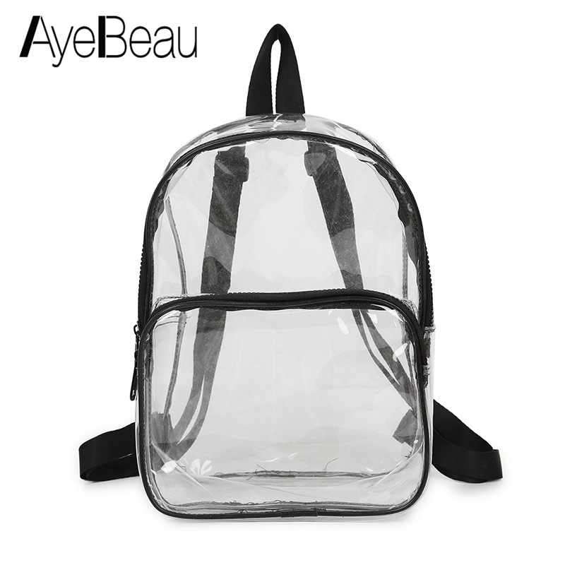 Transparent School Bag Clear Kid Children Backpack Schoolbag For Girl Boy Child Teenager Women Baby Scool Back Pack Kindergarten
