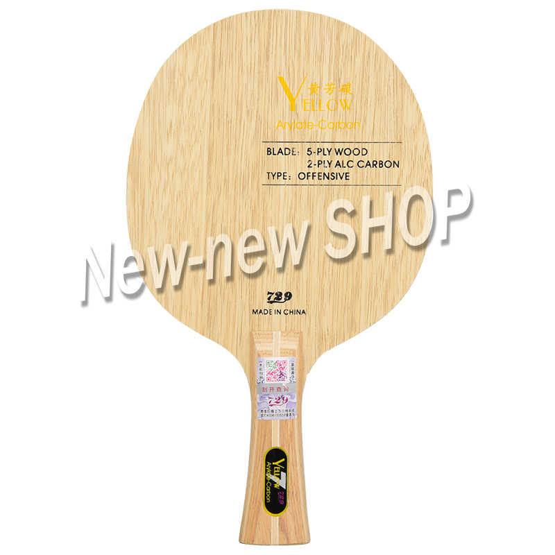New Friendship 729 Black Blue Yellow ALC Carbon Table Tennis Blade Offensive Ping Pong Racket Bat