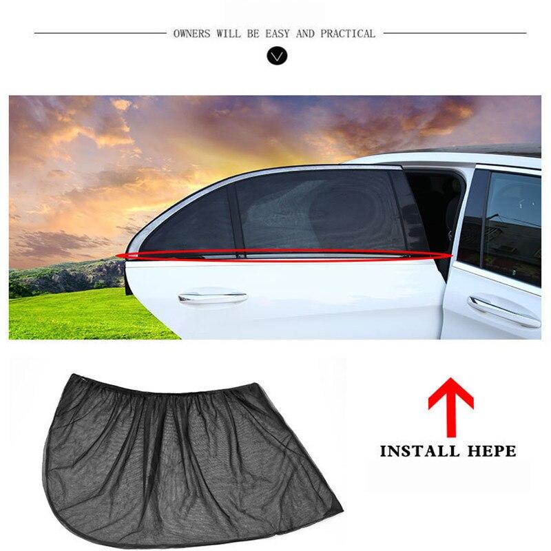 3895343abdc8 Super Discount] 2Pcs Car Black Rear Side Sunscreen Insulation Side ...