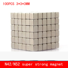 wholesale 100PCS 3*3*3mm mini cube strong N42 N52 magnet Neodymium magnets 3x3x3mm