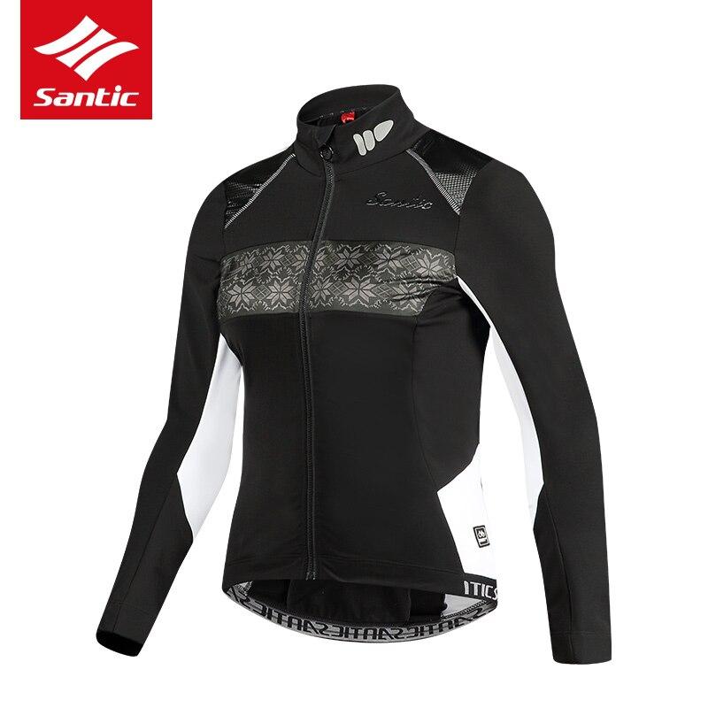 Santic Anti Uv Winter Womens Radfahren Kleidung 100% Polyester Thermische Fleece Fahrrad Radfahren Tragen Fahrrad Kleidung Radfahren Jersey Set - 2