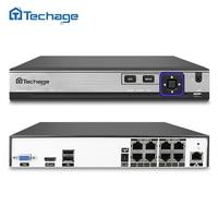 Techage 8CH 48V H 265 H 264 POE NVR CCTV System XMEYE P2P ONVIF 4 5M