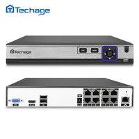 Techage H.265 H.264 8CH 48 V POE Kamera IP NVR Bezpieczeństwa System nadzoru CCTV P2P ONVIF 4*5 MP/8*4 MP HD Network Video rejestrator