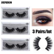 439e0f04bac 3Pairs/lot Invisible Transparent Band 3D Mink Fur Fake Eyelashes Women's  Makeup False Lashes Hand-made Mink Lash