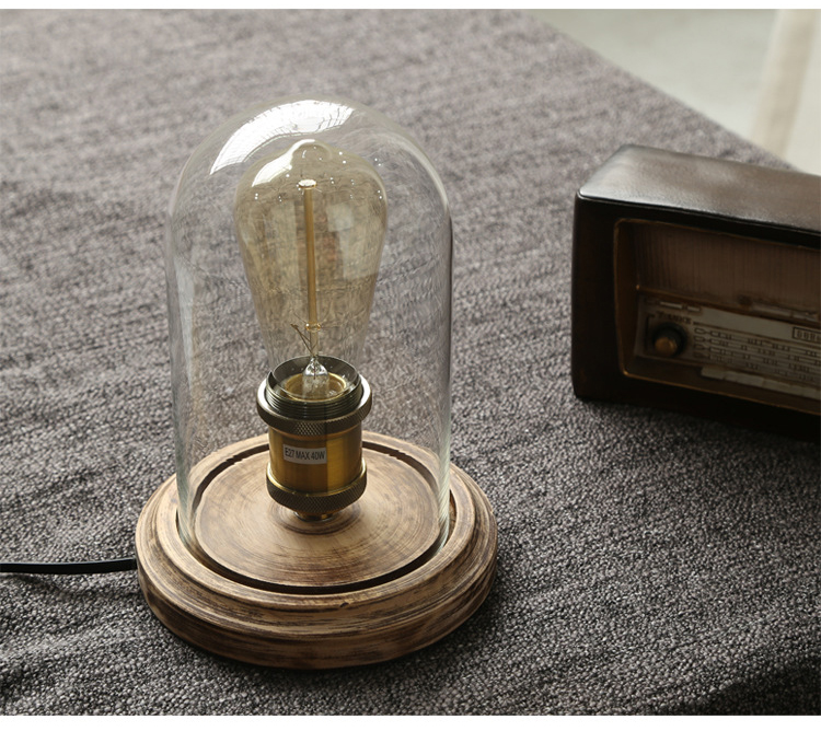 Creative Simple Warm Table Lamps Retro Loft American Style Lighting For Home Bedroom Foyer Hotel With Edison Bulb Led Indoor Wall Lamps