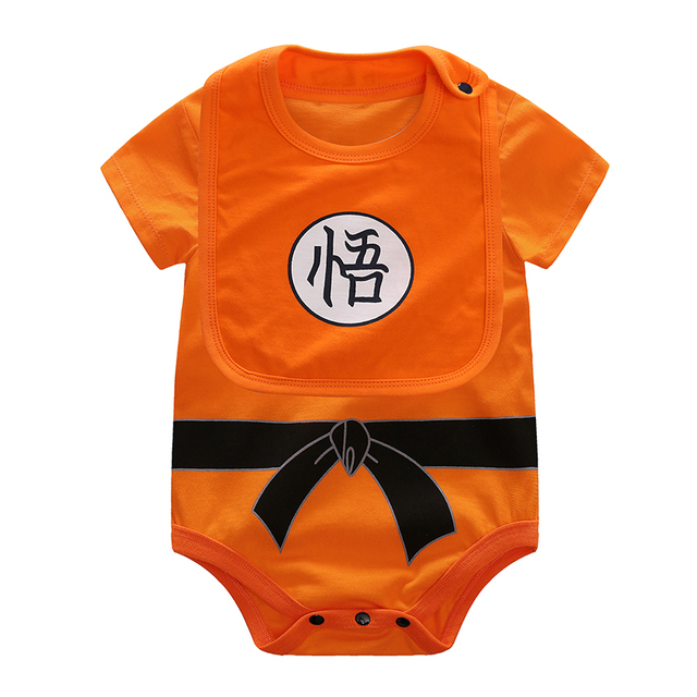 YiErYing Baby Clothing Baby rompers 100% Cotton Dragon Ball Sun Goku Long and Short Sleeve Baby Jumpsuits Baby Boy Girl Clothes 3