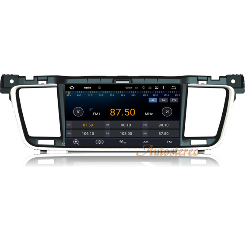 8 Core Android 8.0 4+32GB Car DVD Player GPS Navigation Radio Stereo For PEUGEOT 508 2011 2012 2013 2014 RDS USB SWC Free Map