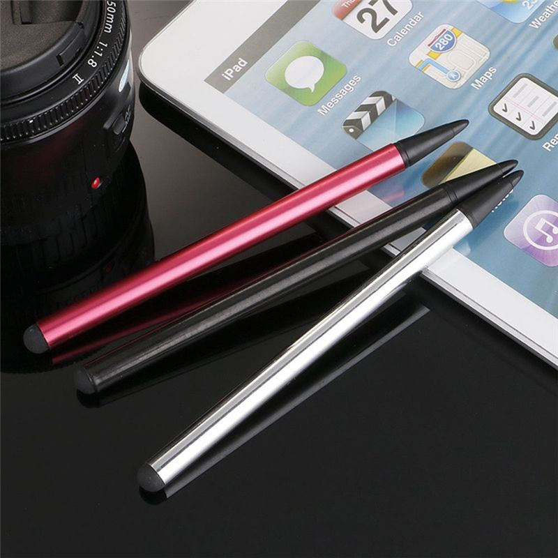 2 in1 Touch Screen Pen Stylus Universal For iPhone iPad Samsung Tablet Phone s what plastic touch screen stylus w clip for iphone ipod ipad silver