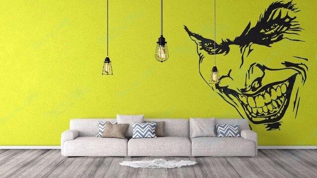 Joker Decal Fantasy collection for wall decor Joker Villain Grin ...
