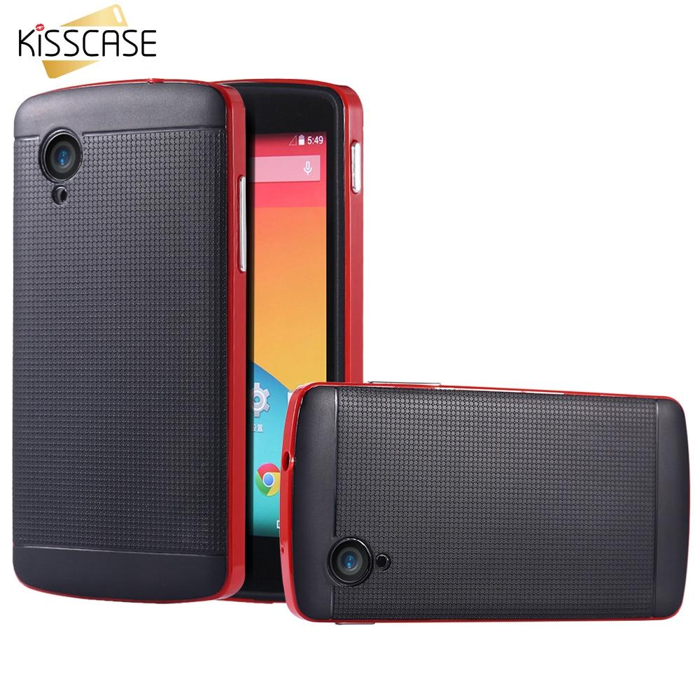 KISSCASE Nexus 5 Case Rugged Hybrid TPU PC Armor Case For LG Nexus 5 E980  D820
