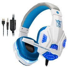 Купить с кэшбэком Best Gaming Headset Gamer casque Deep Bass Gaming Headphones for Computer PC PS4 Laptop Xbox One Notebook with Microphone LED
