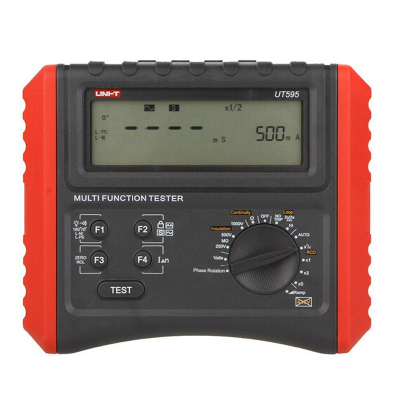UNI-T UT595 digital RCD tester Multifunction Loop Testers Earth Ground Line Loop Impedance Tester Insulation Resistance Meter uni t ut595 electrical integrated tester digital multifunction electrical safety integrated test instrument
