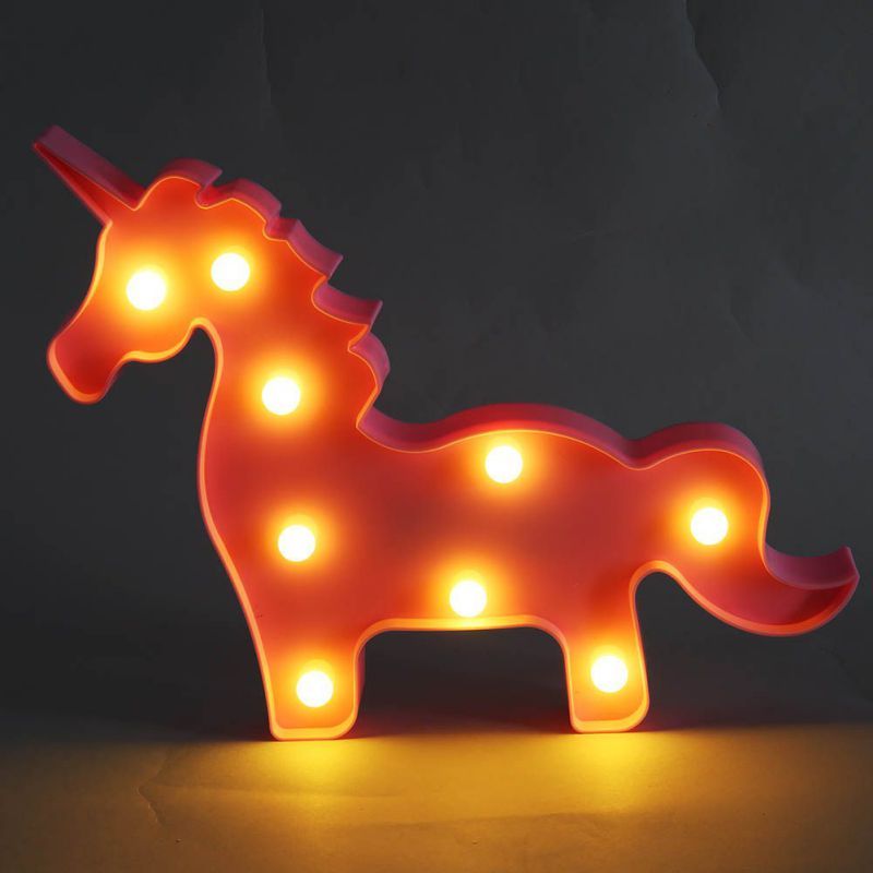 LED Moon Night Lights Wall Lights Star Unicorn Table Lamps Romantic 3D Sconces Childrens Gift Home Bedroom Decor Lights