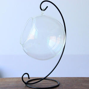 Stand-Holder Lantern Candle Glass-Ball Hanging-Stand Iron-Art Home-Decoration Wedding