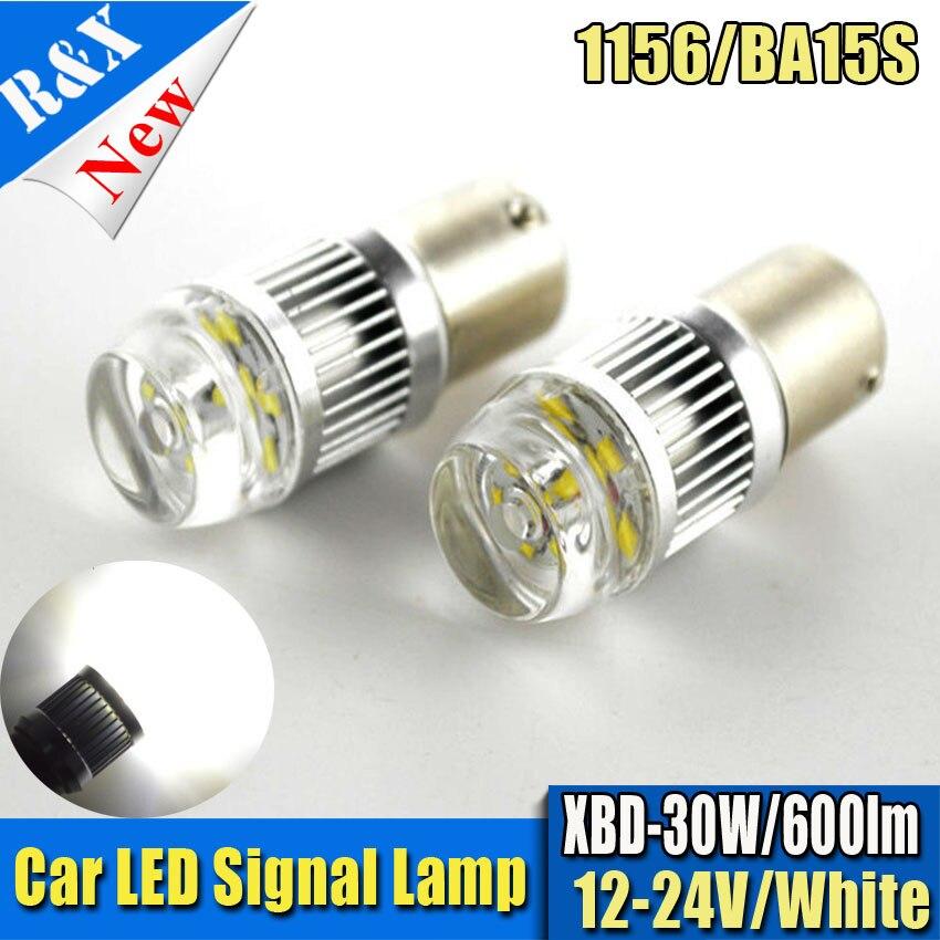 2x 30W 1156 S25 P21W XBD Chip 6000K White LED Reverse Light Backup BA15S 1157 BAY15D Led Reverse Lamp 360 Degree Beam Lens