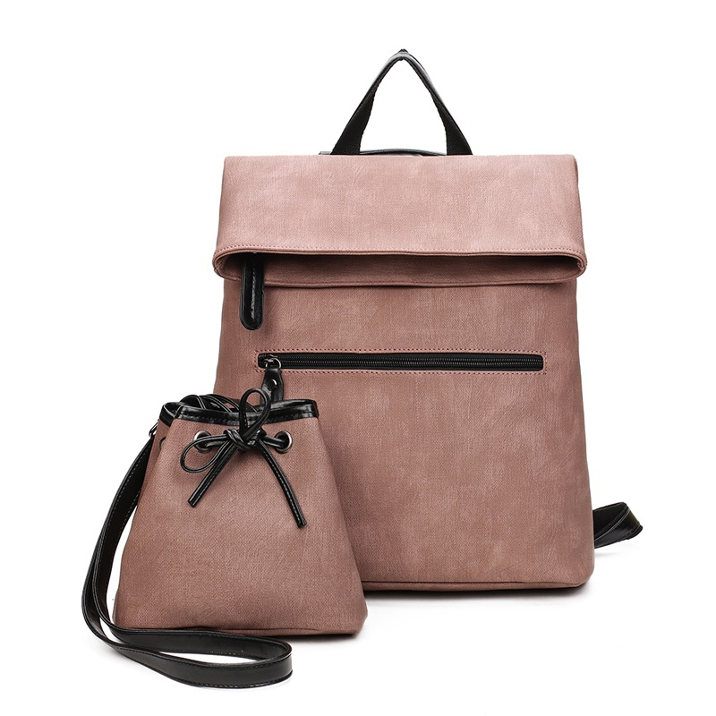 2017 Famous Brand Composite Bag Women Backpack Designer Pu Leather Famale School Bags For Teenagers Sac a Dos Set