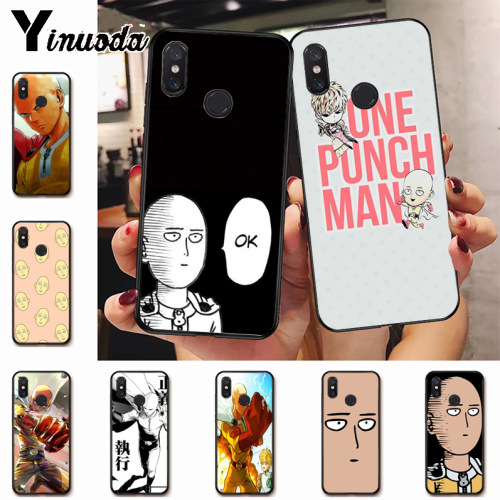 Ynuoda One Punch Man amine Special Offer Luxury Vertical phone case for xiaomi mi 8se 6 note2 note3  redmi 5 plus note5 cover