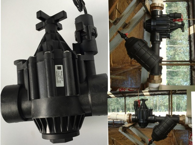 Free Shipping  Z&W  Agricultural irrigation systems P Series Inline Irrigation Electric solenoid valve 2""