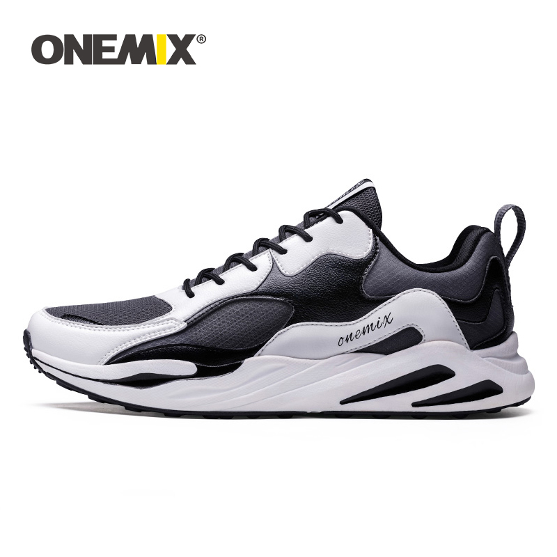 ONEMIX Men Running Shoes for Women Soft High Rebound Outsole Breathable Mesh Trail Trainers Casual Outdoor Sneakers