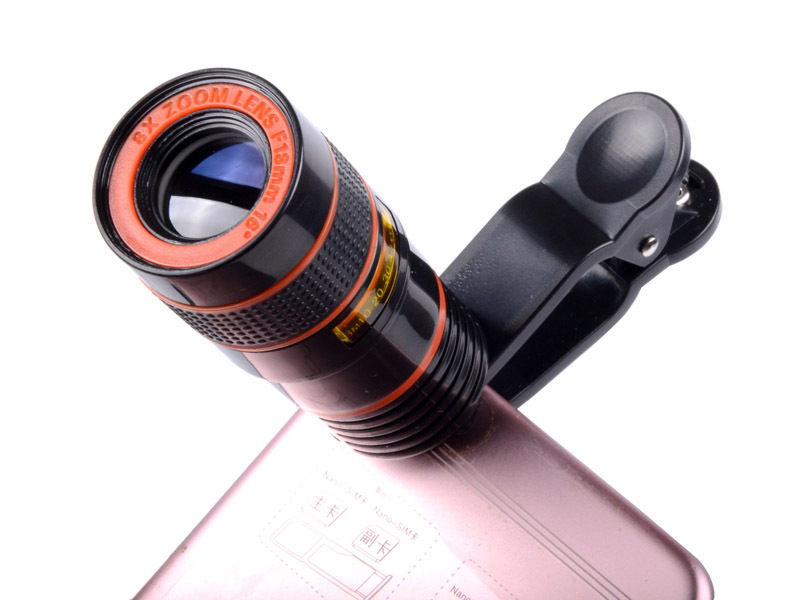 8x18 Telemóvel Telescópio Monocular portátil HD Zoom