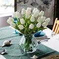Бесплатная доставка 31 шт./лот pu мини-Тюльпан Цветок настоящий сенсорный свадебный цветок букет искусственного шелка Цветы для вечерние цветы искуственные тычинки  для цветов статуэтки декор для дома штормгласс - фото
