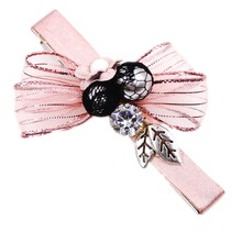 Alligator Barrettes fine hair clip leaf rhinestones pearls bowknot 3.2″ duck clip for women and girls