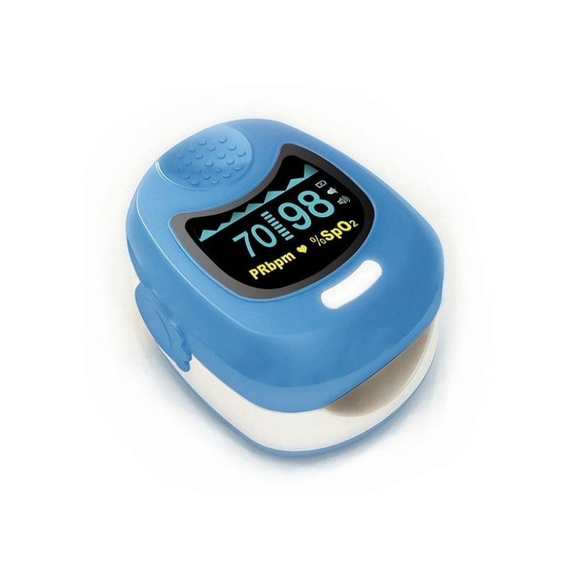 CE ISO Pediatric Fingertip Pulse Oximeter SPO2 Pulse Rate Oxygen Monitor Alarm For Kid 1-12 years old baby oximeter
