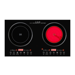 Double - stove induction cooker embedded household double-head electric ceramic stove intelligent black magnetic ceramic