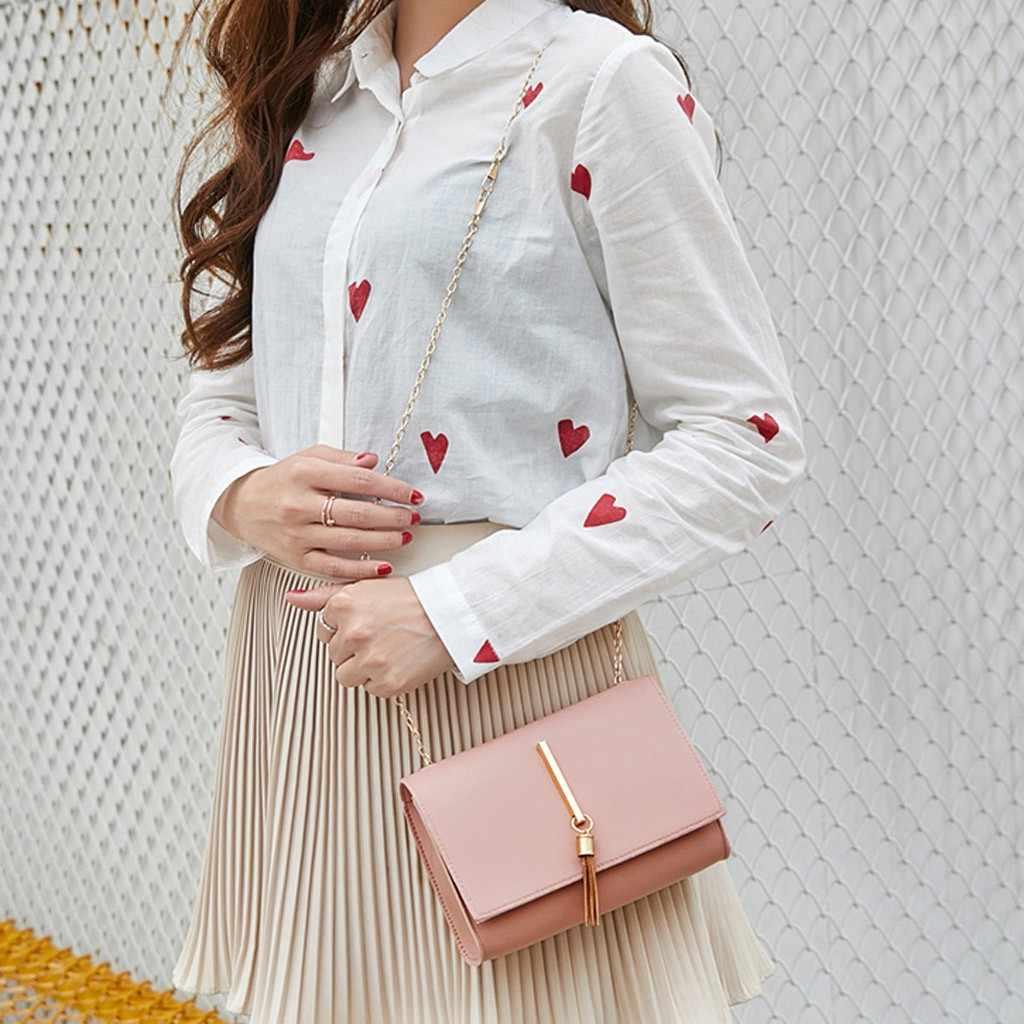 Fashion Kecil Tas Selempang untuk Wanita 2019 Mini Wanita Bahu Rumbai Paket Huruf Dompet Mobile Phone Messenger Musim Panas Tas