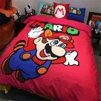 XANH RA KHỎI CỔ PHIẾU! Miễn Phí phí vận chuyển qua UPS! Trẻ Em cartoon Super Mario bộ đồ giường bộ mà không có chất duy nhất/twin/full/nữ hoàng kích thước