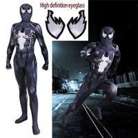 Venom Symbiote Spiderman Costume Movie Venom Cosplay Marvel Black Zentai Suit Halloween Costumes For Men Adult