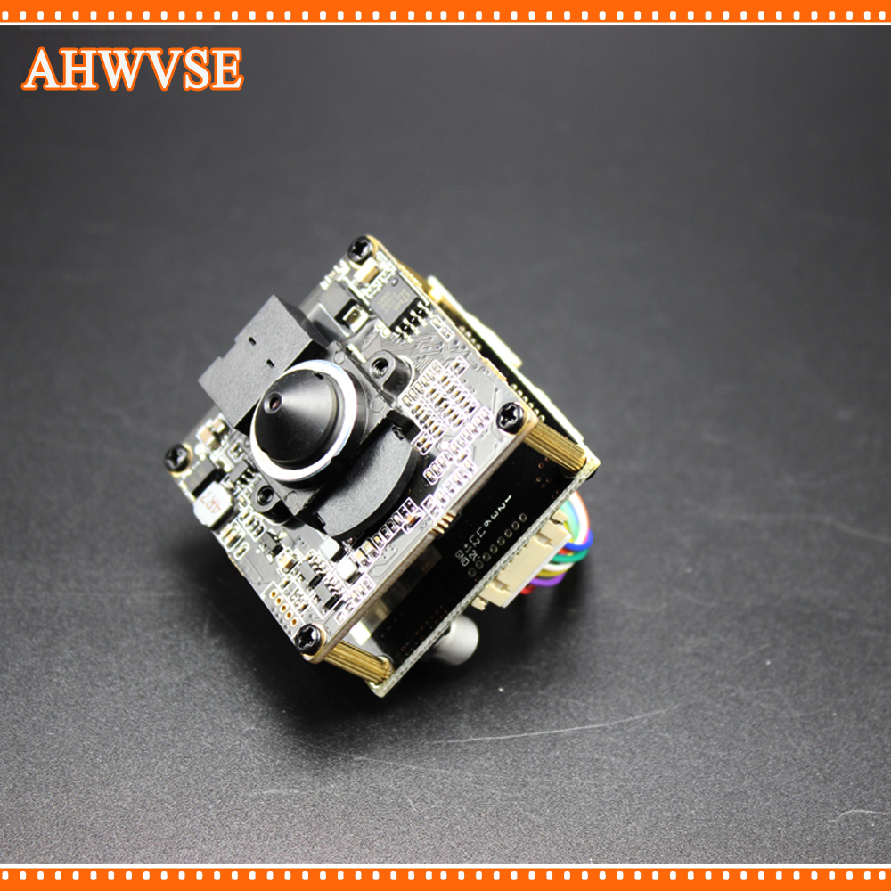 AHWVSE Home Security Mini POE IP Camera Module with RJ45 Port Cable and 3.7mm Lens hkes 46pcs lot 1 3mp security ahd mini camera module with bnc port cable and 6mm lens