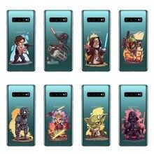 Cute cartoon character Star Wars Soft Silicon Case Cover For Samsung A3 A5 A7 2016 A5 A7 2017 A6 A8 2018 Plus A7 2018 A750 цена