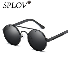 2018 SPLOV Nuevas gafas de Sol Redondas Retro Gafas de Sol de Moda Los Hombres mujeres Jhon Lennon Primavera de Oro Rosa Gafas de sol mujer