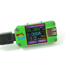 Mobile charging treasure usb voltage ammeter detector, color screen with PC communication thermometer power battery capacity