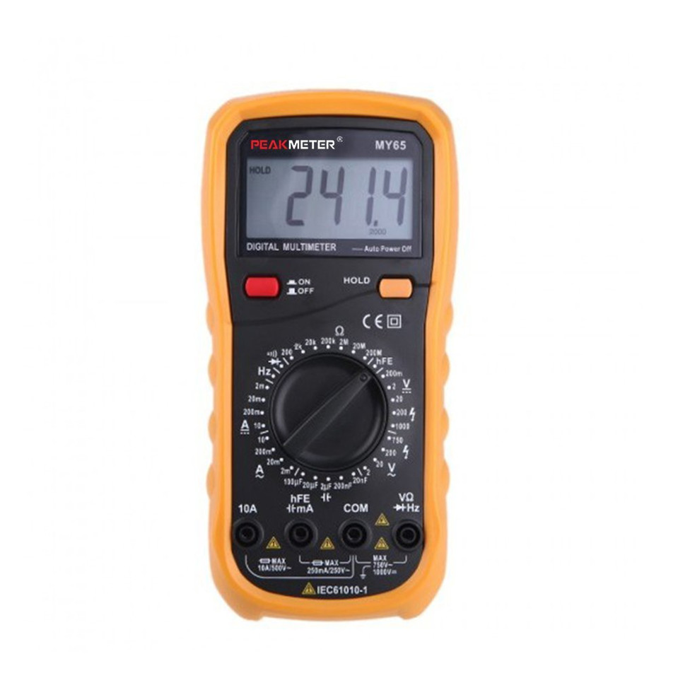 MY65 Multimetro Digital Multimeter AC/DC Current Voltage Resistance Capacitance Ammeter Frequency Tester FreeShipping my68 handheld auto range digital multimeter dmm w capacitance frequency