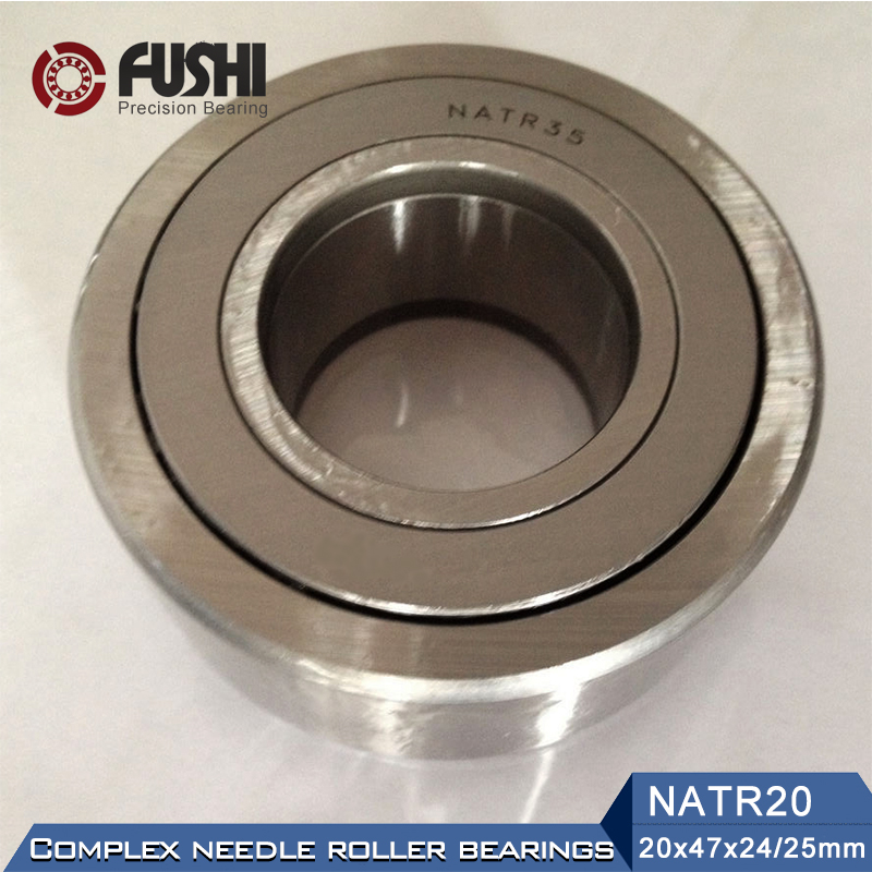 NATR20 Roller Followers Bearings 20*47*25*24mm ( 1 PC) Yoke Type Track Rollers NATR 20 Bearing NATD20 natr40 roller followers bearings 40 80 32 30mm 1 pc yoke type track rollers natr 40 bearing natd40