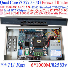Firewall Router B75 Barebone Router with 6 Gigabit 82583v Lan Intel Quad Core i7 3770 3