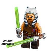 Única Venda de super-heróis de star wars Rogue One Ahsoka Tano modelo de blocos de construção tijolos brinquedos para as crianças brinquedos menino