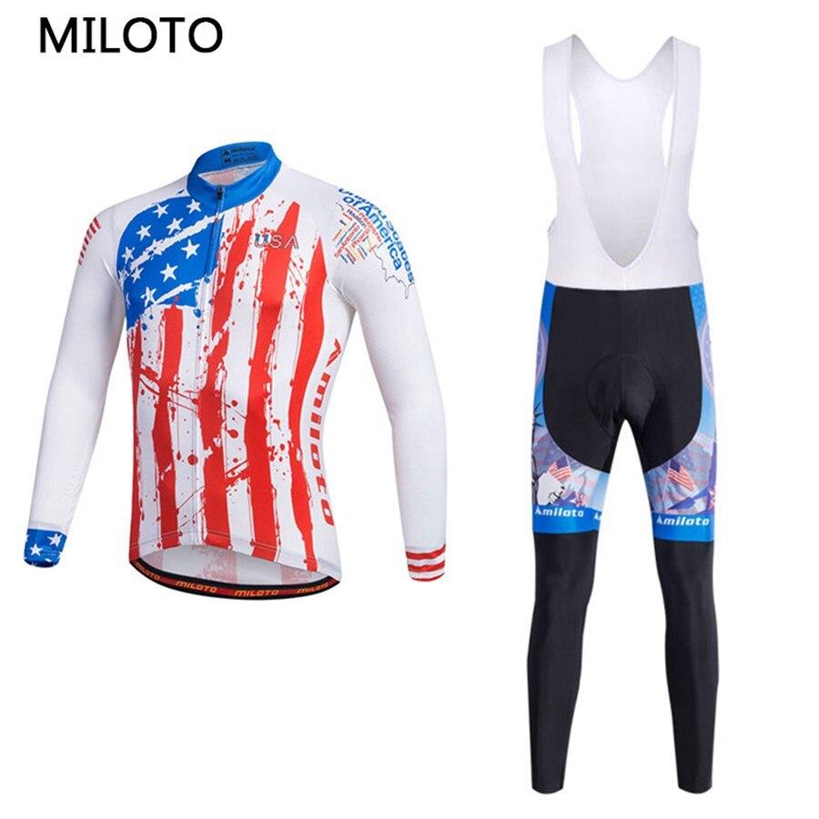 Miloto USA chemise manches longues cyclisme Jersey vélo Jersey cyclisme vêtements maillot ciclismo roupa ciclismo cyclisme ensemble