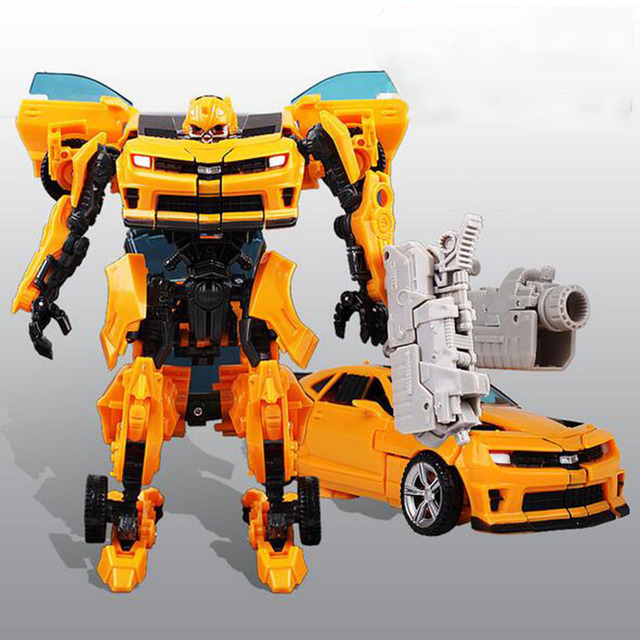 Bumblebee Transfor Auto Car 5 6 7 8 Years Boy Children Handmade Educational